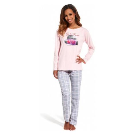 Dámské pyžamo Cornette 655/126 Go to rome   růžová