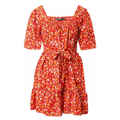 Missguided Letní šaty 'DITSY' červená / oranžová / bílá