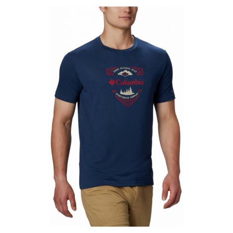 Tričko Columbia Nelson Point™ Graphic SS Tee M - tmavě modrá S