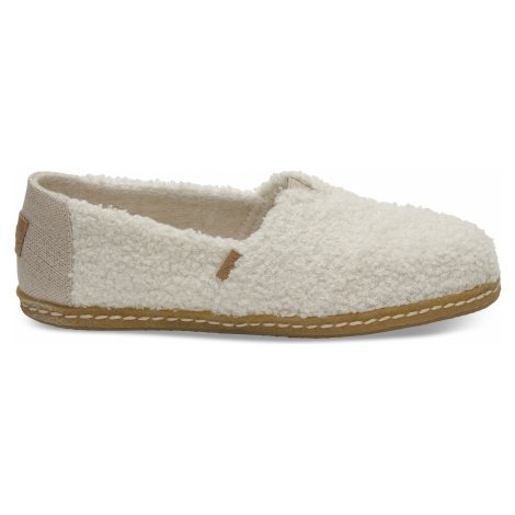 Natural Plush Shearling Women's Alpargata Toms