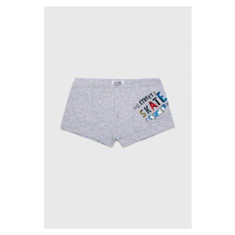 Chlapecké boxerky Skate šedá Lama