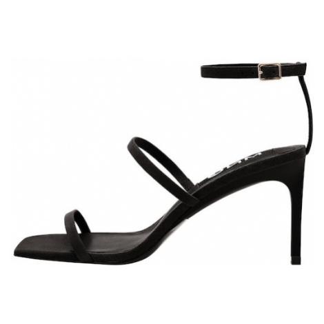 MANGO Páskové sandály 'Italia' černá
