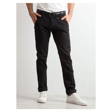 Pánské černé džínové džíny FPrice