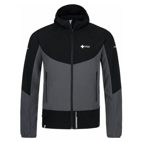 Pánská lehká softshellová bunda KILPI BALANS-M tmavě šedá