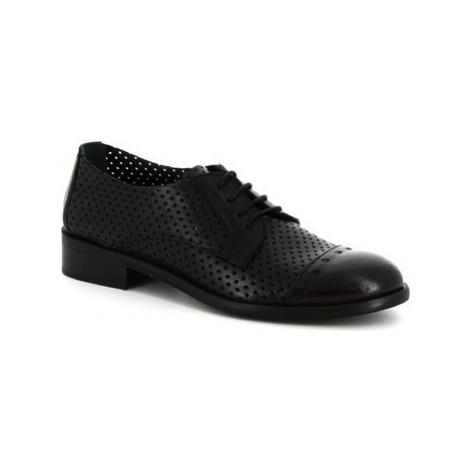 Leonardo Shoes 4641 ROK NERO Černá