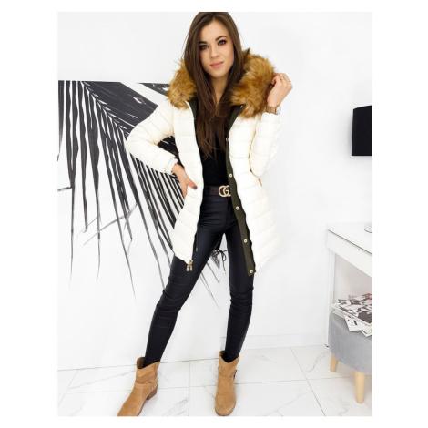 Women's winter parka jacket INETTA khaki TY1609 DStreet