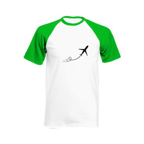 Pánské tričko Baseball Letadlo