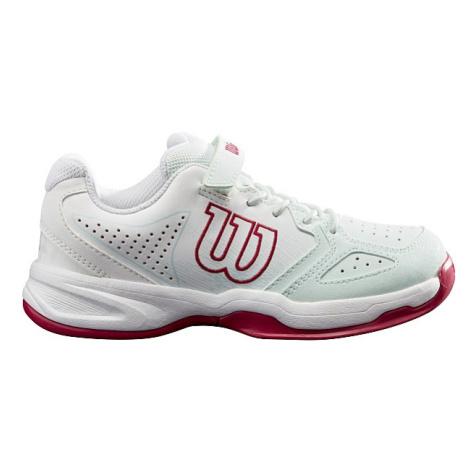 Dětská tenisová obuv Wilson Kaos K White/Sangria, UK 13,5