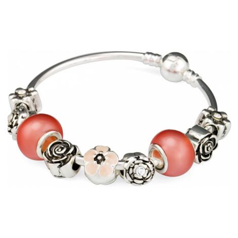 Linda's Jewelry Náramek s přívěsky Flower Rose INR013