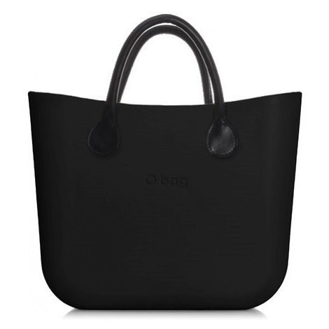 Kabelka obag mini černá s krátkým držadlem koženka černá O bag
