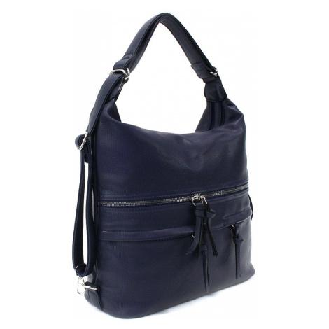 Tmavě modrá dámská kabelka s kombinací batohu Lucille Tapple