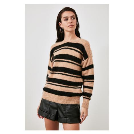 Trendyol Camel Cut Out Detailed Knitwear Sweater