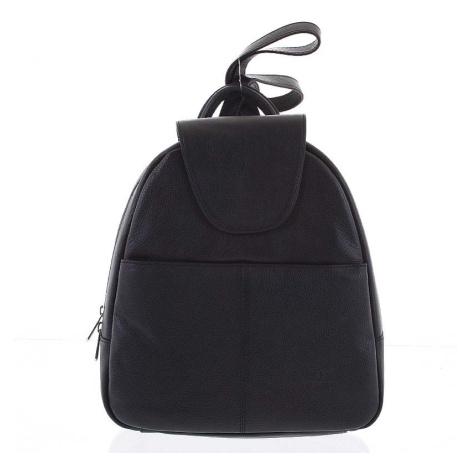 Měkký dámský kožený černý batoh do města - Hexagona Zinovia