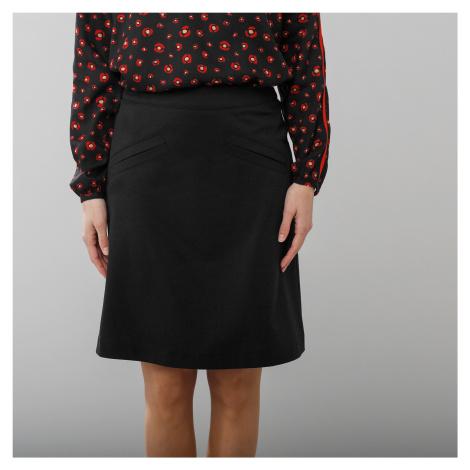 Blancheporte Rozšířená sukně z úpletu Milano černá