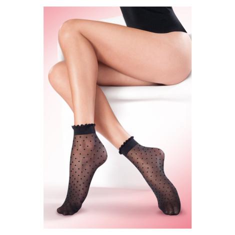 Černé ponožky Puntina 20DEN Gabriella