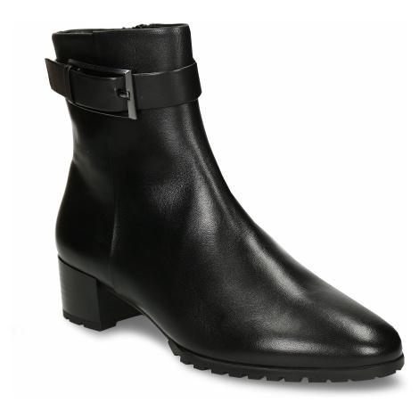 Černá dámská kožená kotníková obuv zimní Högl