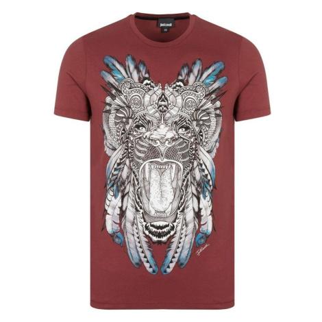 JUST CAVALLI Lion Red tričko
