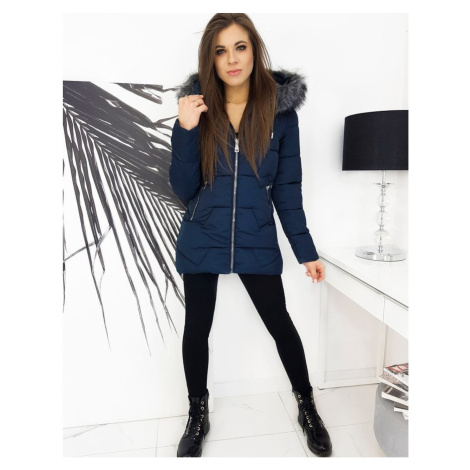 Women's quilted jacket ERIC navy blue TY1616 DStreet