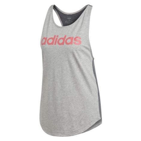 adidas E LIN LOOS TK šedá - Dámské tílko