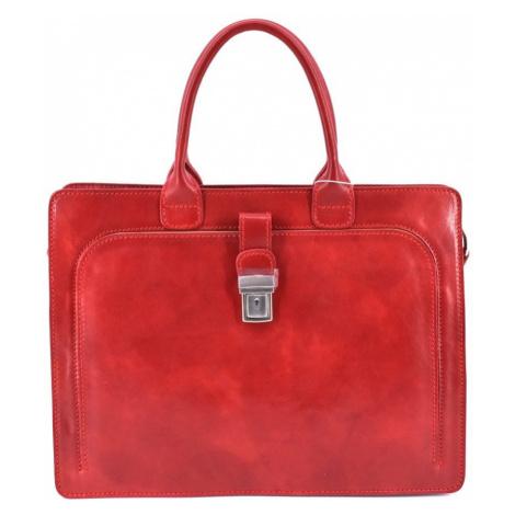Dámská kožená kabelka/aktovka Arteddy - červená