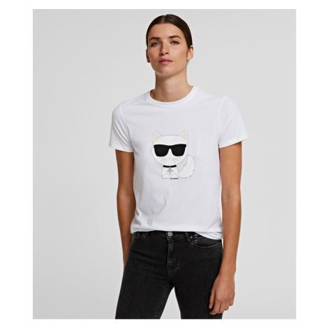 Tričko Karl Lagerfeld Ikonik Choupette T-Shirt - Bílá