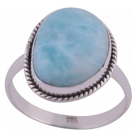 AutorskeSperky.com - Stříbrný prsten s larimarem - S538