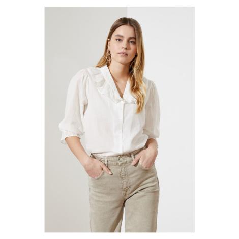 Trendyol White Collar Detail Shirt