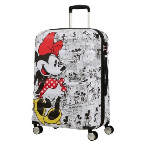 American Tourister Cestovní kufr Wavebreaker Disney Spinner 64 l - Minnie Comics White