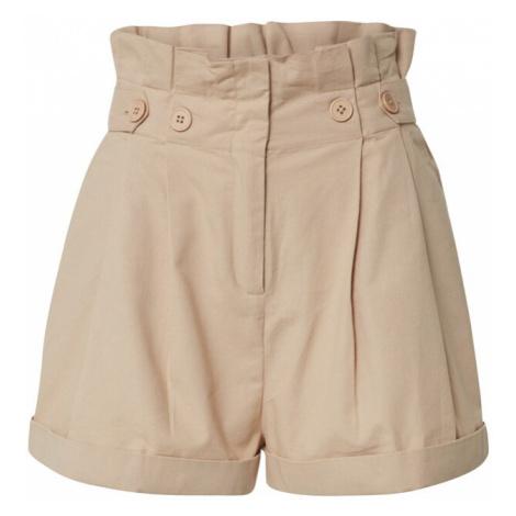 EDITED Kalhoty se sklady v pase 'Caryl' béžová