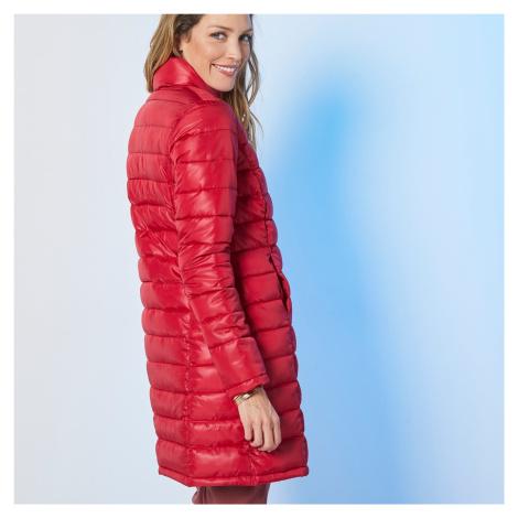 Blancheporte Lehká prošívaná bunda, dlouhá tomatová