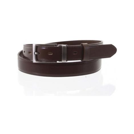Penny Belts Pánský kožený opasek oblekový hnědý - PB Mikl 105 Hnědá