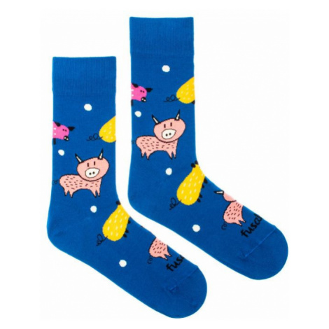 Veselé ponožky Fusakle zlaté prase (--1062)