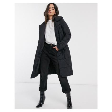 Y.A.S long line puffer coat-Black