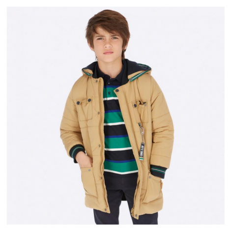 Zimní chlapecká bunda Mayora 7441 | oranžová Mayoral