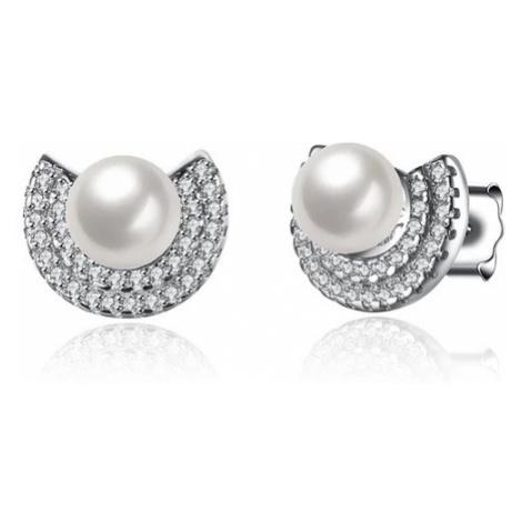 Linda's Jewelry Stříbrné náušnice Perla IN004