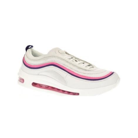 Yes Smile Dámske bielo-ružové tenisky MONI Bílá