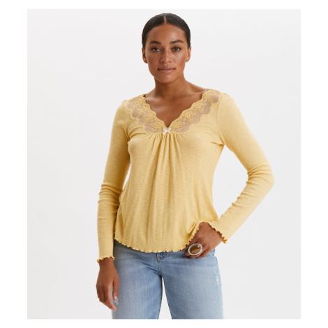 Tričko Odd Molly Rib-Eye Top - Žlutá