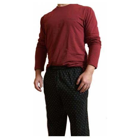 Pánské pyžamo Calvin Klein 1469E | vínová