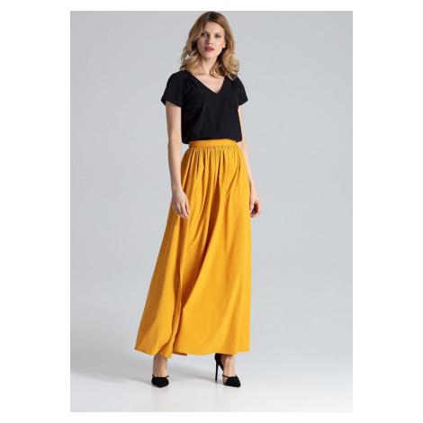 FIGL Hořčicová dlouhá sukně M666 Mustard