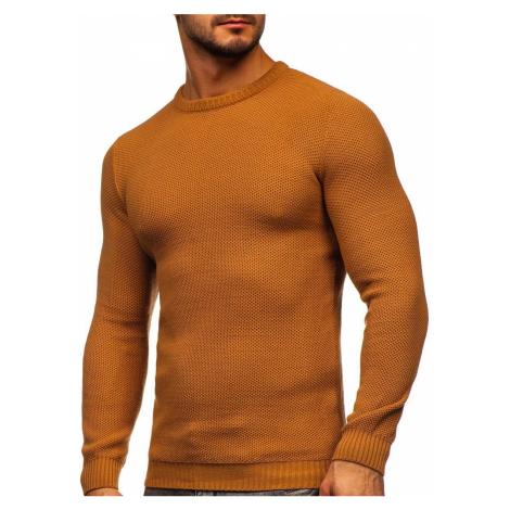 Hnědý pánský svetr Bolf 4629