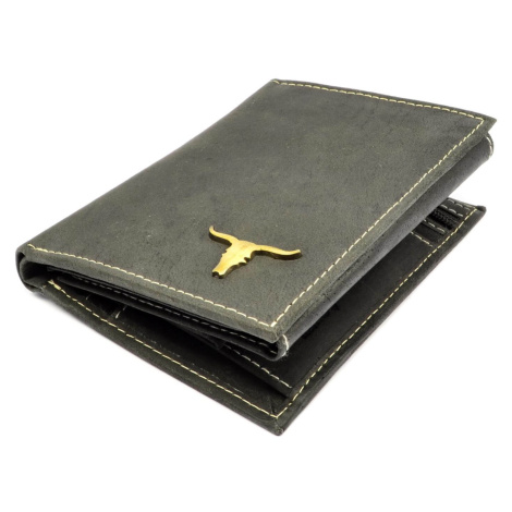 Pánská peněženka kožená šedá Buffalo