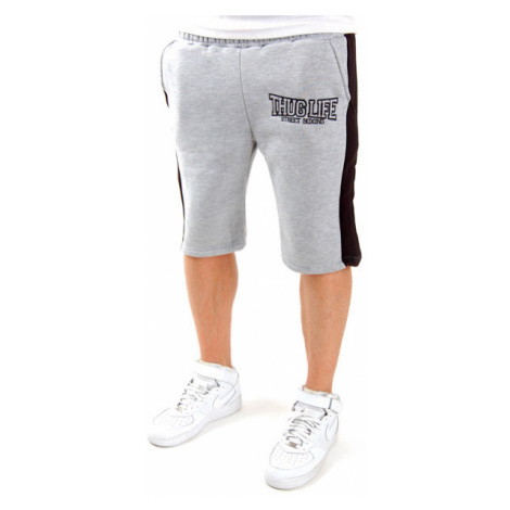 Thug Life Streetboxing Shorts Grey