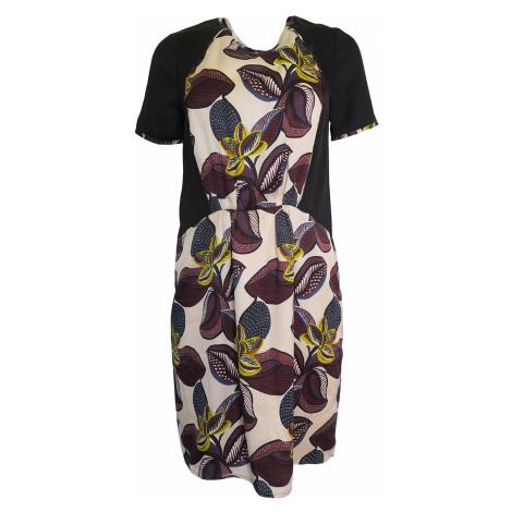 Béžovočerné květované šaty Kookai Kookaï