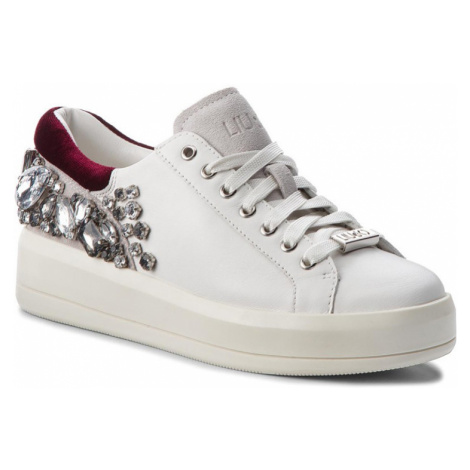 LIU JO Kim 08-lace up calf leather white