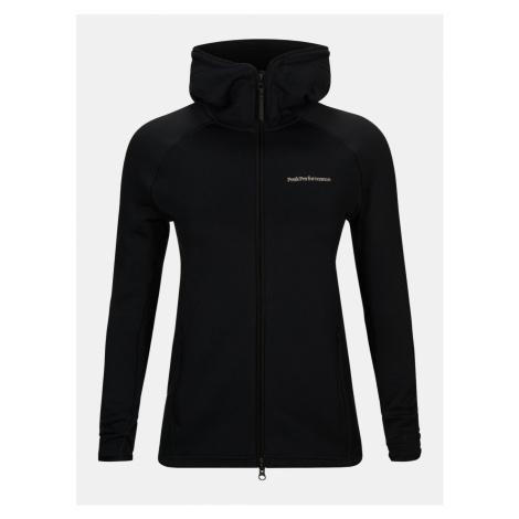Mikina Peak Performance W Chill Zip Hood - Černá