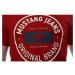 Triko Mustang Aaron C Print pánské tmavě červené