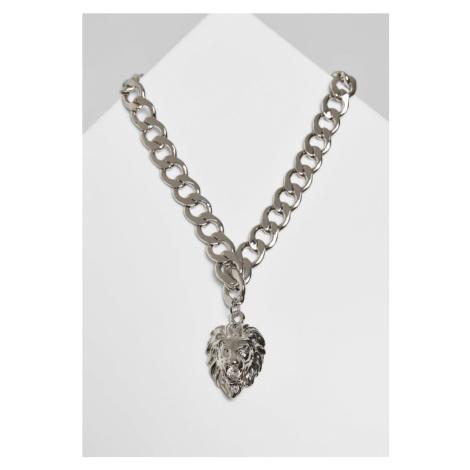 Lion Basic Necklace - silver Urban Classics