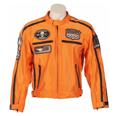 Letní Moto Bunda Bos 6488 Oranžová Oranžová