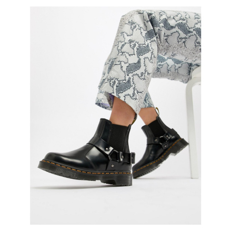 Dr Martens Wincox Black Leather Harness Chunky Chelsea Boots
