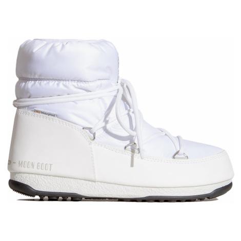 Boty Moon Boot LOW NYLON WP 2 bílá